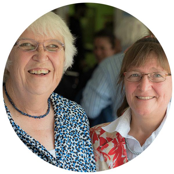 Carol Seymour & Ginny Perkins